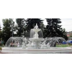 Fontana Roma - fontane da giardino funzionanti in graniglia di marmo di Carrara