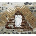 Stemma con Giglio - arredo da giardino in graniglia di marmo di Carrara 100% Made in Italy
