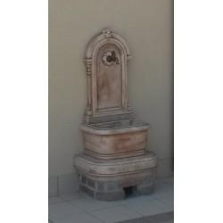 Fontana a muro antica - fontane da giardino con rubinetto in graniglia di marmo di Carrara