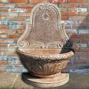 Fontana a muro Varsavia - fontane da giardino con rubinetto in graniglia di marmo di Carrara
