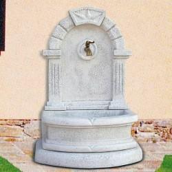 Fontana a muro Gibilterra - fontane da giardino con rubinetto in graniglia di marmo di Carrara