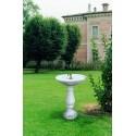 Fontana Milano - fontane da giardino con rubinetto in graniglia di marmo di Carrara