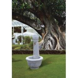 Fontana Cortina - fontane da giardino con rubinetto in graniglia di marmo di Carrara