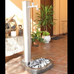 Stainless steel Adele fountain with tap
