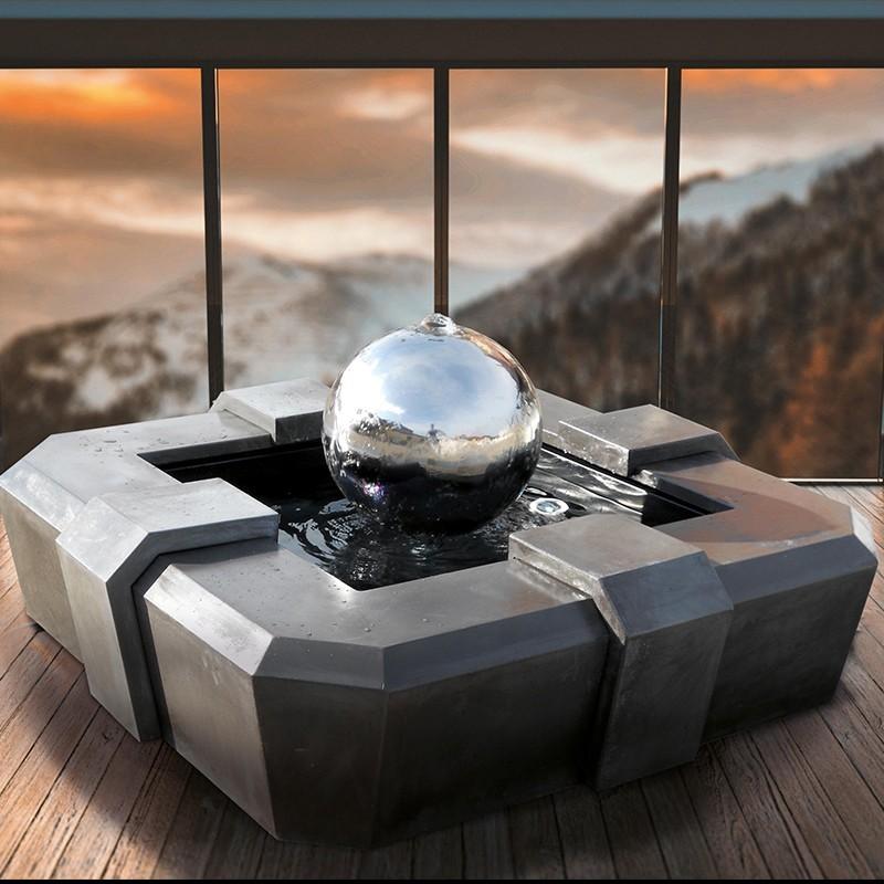 Fontana mod. Mercurio fontana funzionante da giardino in graniglia di marmo di Carrara