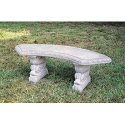 Panchina circolare drago - arredo da giardino in graniglia di marmo di Carrara 100% Made in Italy