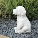 Cagnolino - statue da giardino animali in graniglia di marmo di Carrara