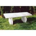 Panchina Prudenzini - arredo da giardino in graniglia di marmo di Carrara 100% Made in Italy