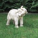 Elefante - statue da giardino animali in pietra ricomposta
