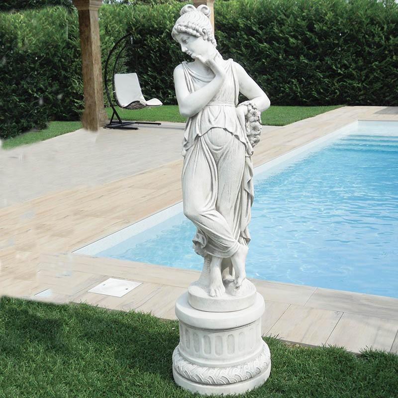 Veronica - arredo da giardino in graniglia di marmo di Carrara