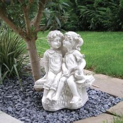 Statua da giardino Mod. Putti in panchina