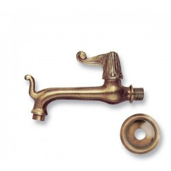 large brass faucet