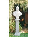 Colonnetta Salò - arredo da giardino in graniglia di marmo di Carrara