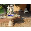 Fontana Costazzurra- arredo da giardino in graniglia di marmo di carrara